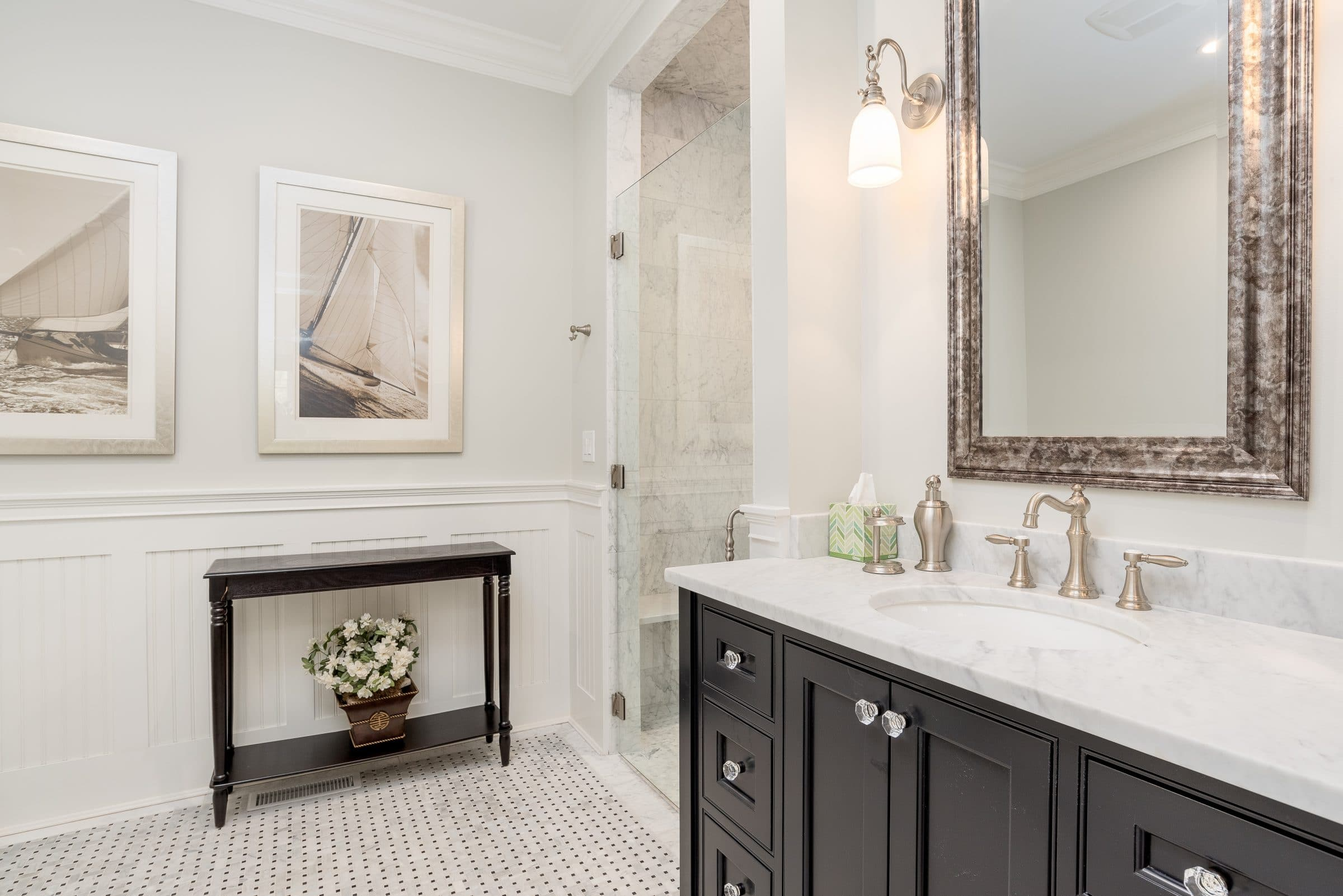 Custom Bathroom Design | New Home Construction CT | Atlas Construction